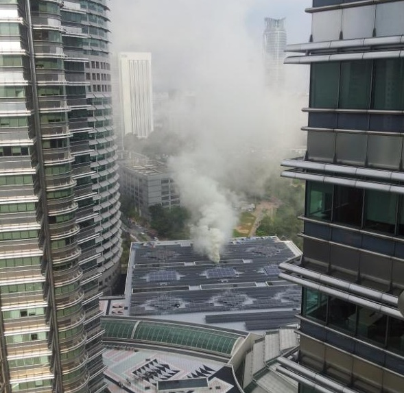 Kebakaran Di Menara Kembar Suria KLCC