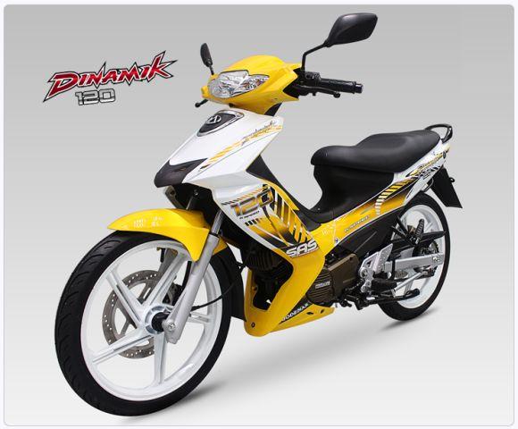 Motor Dinamik Modenas kuning