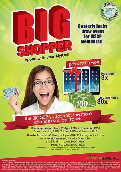 Mykad Smart Shopper kumpul mata